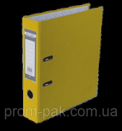 Реєстратор одност. JOBMAX А4, 70мм PP, жовтий, збірний, фото 2