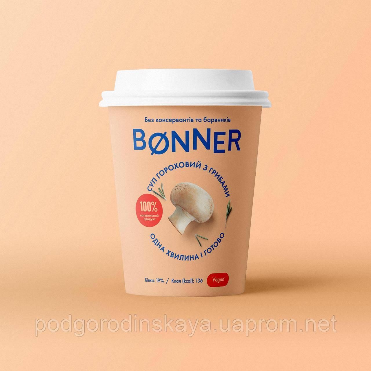 Крем-суп гороховий з грибами, 50г ТМ Bonner