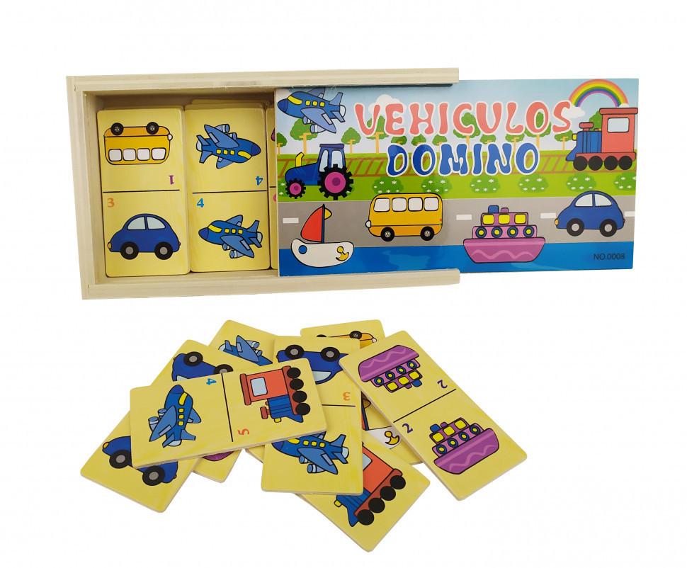 Деревянная игрушка Домино MD 2198 (Транспорт)