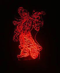 Съемная пластина с рисунком к ночнику, Козак з шаблею