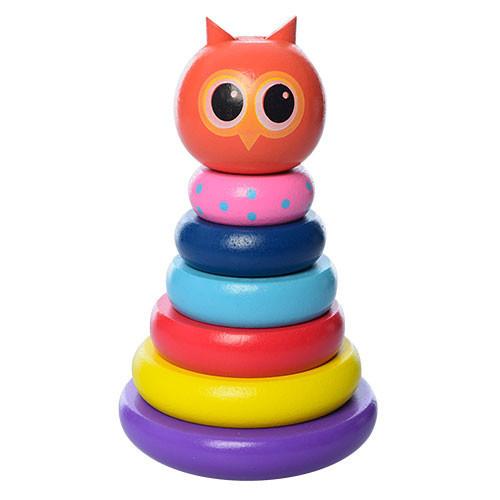 Деревянная игрушка Пирамидка MD 1192 (Сова)