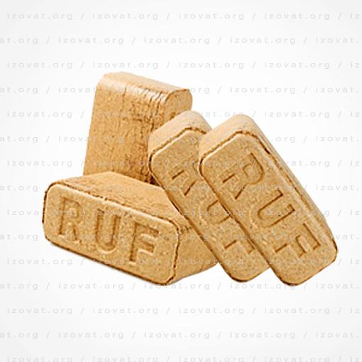 Брикеты Руф (RUF) березовые 10 кг. АКЦИЯ! Лучина для розжига в подарок!