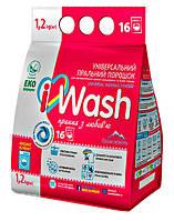 Стиральный порошок автомат iWash Универсальный Горная свежесть - 1,2 кг.