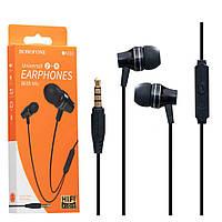 Наушники с микрофоном (гарнитура) Borofone BM38 черная