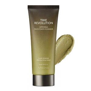 Очищающая пенка-маска с экстрактом полыни MISSHA Time Revolution Artemisia Pack Foam Cleanser, 150 мл