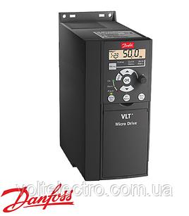 Частотний перетворювач Danfoss VLT Micro Drive 0.18 кВт, 1 x 220, 1.2 А