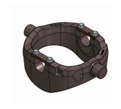 Опорная рама для подкузовного цилиндра UM 169-PIN50-D50 без пневмоограничителя и кронштейнов