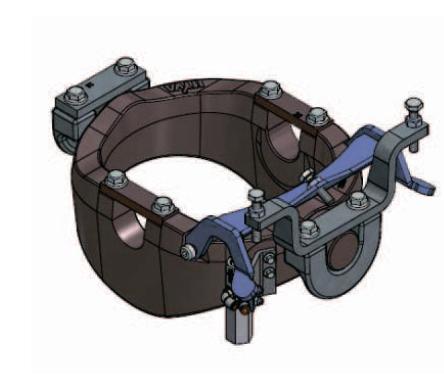 Опорная рама для подкузовного цилиндра UM 129-KOPN-PIN50-D50