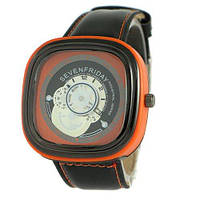 Sevenfriday Leather Orange-Black