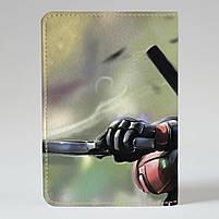 "Обкладинка на паспорт ""Дедпул"", Обложка для паспорта экокожа ""Дэдпул. Ярость"" 371, фото 2"