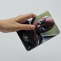 "Обкладинка на паспорт ""Дедпул"", Обложка для паспорта экокожа ""Дэдпул. Ярость"" 371, фото 4"