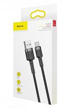 Кабель USB Baseus cafule Cable USB For Type-C 3A 1M Gray+Black (CATKLF-BG1)