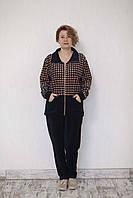 Женский костюм велюровый батал шанель