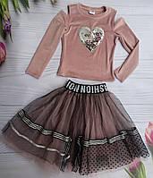 Красивые Нарядный костюм юбка + кофта для девочек