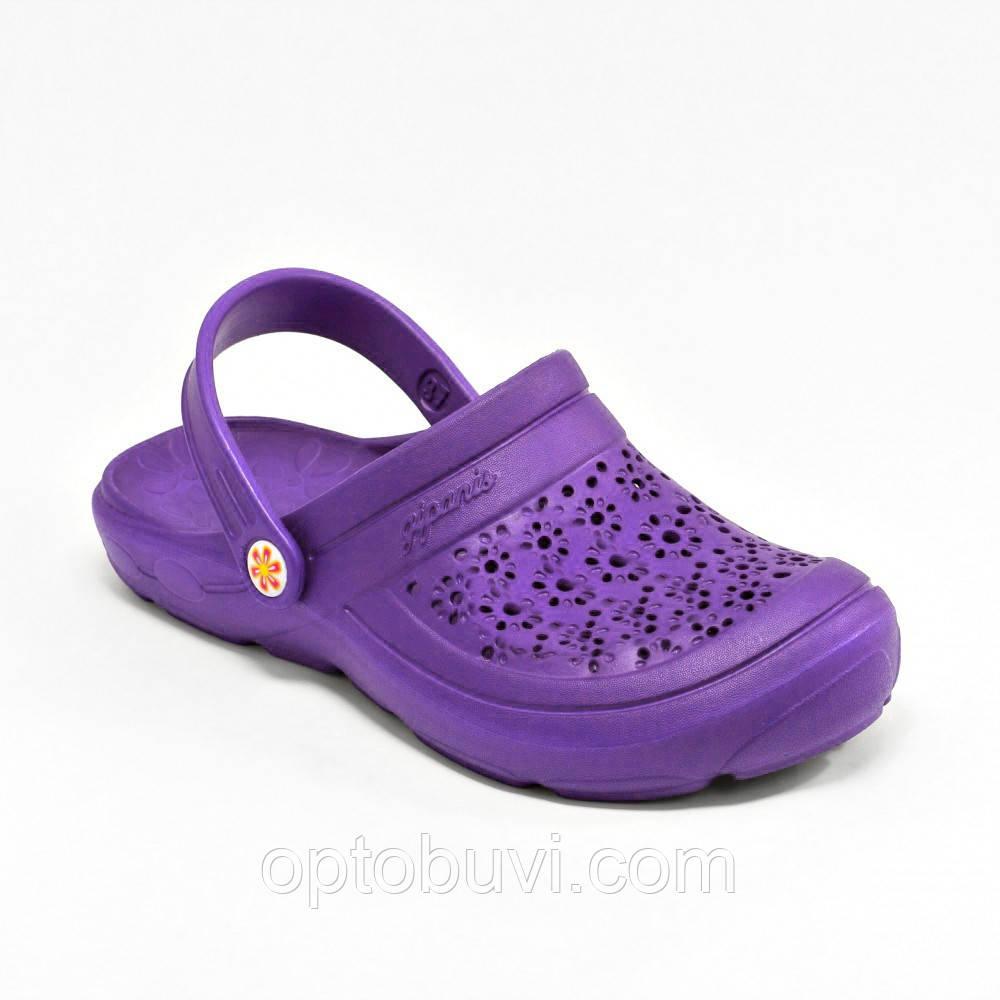 Женские сабо цветок фиолетовые Gipanis