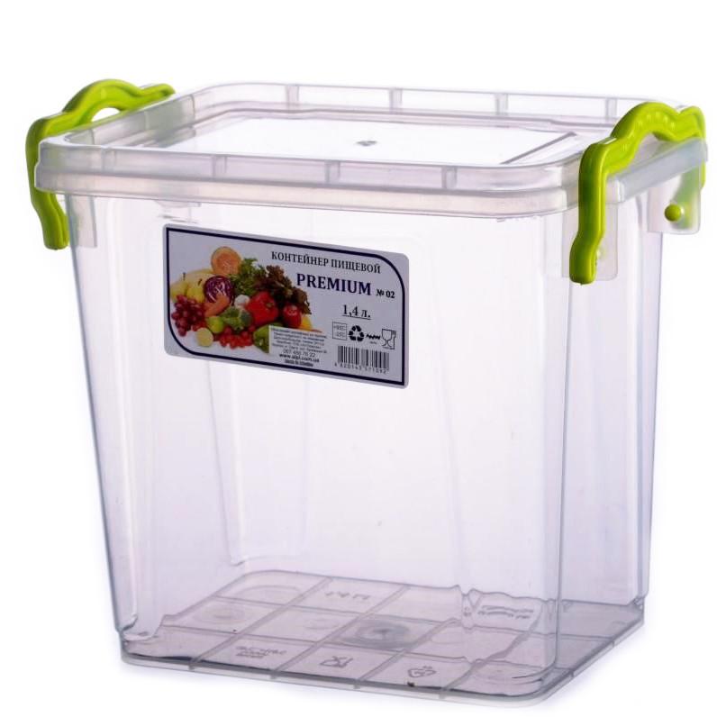 Контейнер для еды Ал-пластик PREMIUM 1.4 л с ручками