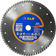 Круг алмазный отрезной S&R TURBO Meister 230x22.2 бетон неарм. (252371230)