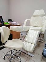 Кушетка косметологическая 240 кремовая+стул мастера