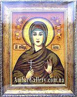 Св.Алла іменна ікона з бурштину янтаря