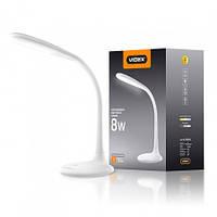 Настольная светодиодная LED лампа Videx VL-TF03W 8W 3000-5500K 220V