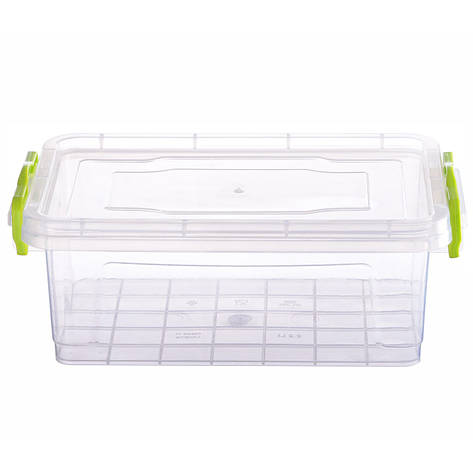 Контейнер для еды Ал-пластик  ELIT №2 объём 2.2 л  с ручками , фото 2