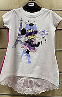 Футболка для девочек Disney оптом, 98/104-134 рр . Артикул: 02030