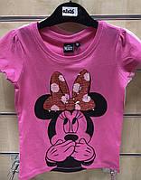 Футболка для девочек Disney оптом, 98/104-134 рр . Артикул: 02026