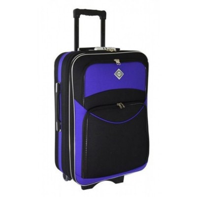Чемодан Bonro Style средний, черно-фиолетовый