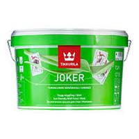 Краска Тиккурила Джокер 0.9л белая Шелковисто-матовая акрилатная
