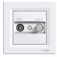 TV-SAT розетка проходная (8 dB) Asfora белый, EPH3400321