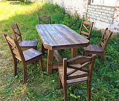 Садовая мебель из массива дерева 1710х840 от производителя для дачи, пабов, комплект Furniture set - 14
