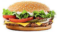 Мягкая яркая игрушка - брелок - магнит Сквиши антистресс для рук Гамбургер   Squishy
