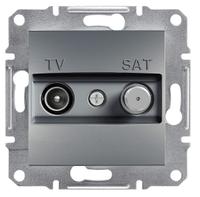 Телевизионная розетка TV/SAT 8дБ сталь проходная Asfora  EPH3400362