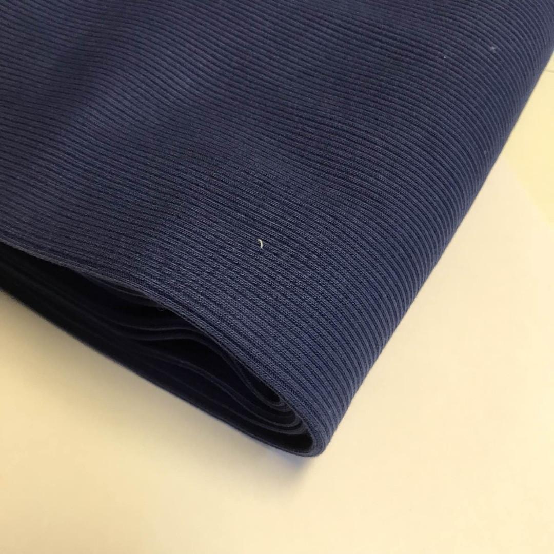 трикотажная ткань кашкорсе темный джинс, купить в нашем магазине