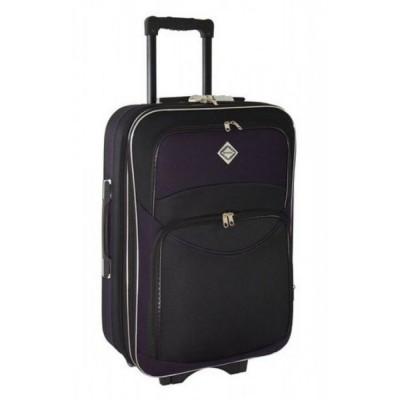 Чемодан Bonro Style на колесах, большой, черный-темно фиолетовый