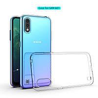 Ультратонкий 0,3 мм чохол на Samsung Galaxy A01 прозорий, фото 1