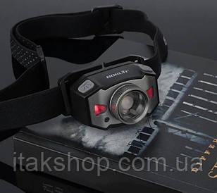 Налобный фонарь Boruit B33 фонарик XP-G2 + 2*3030 красный свет