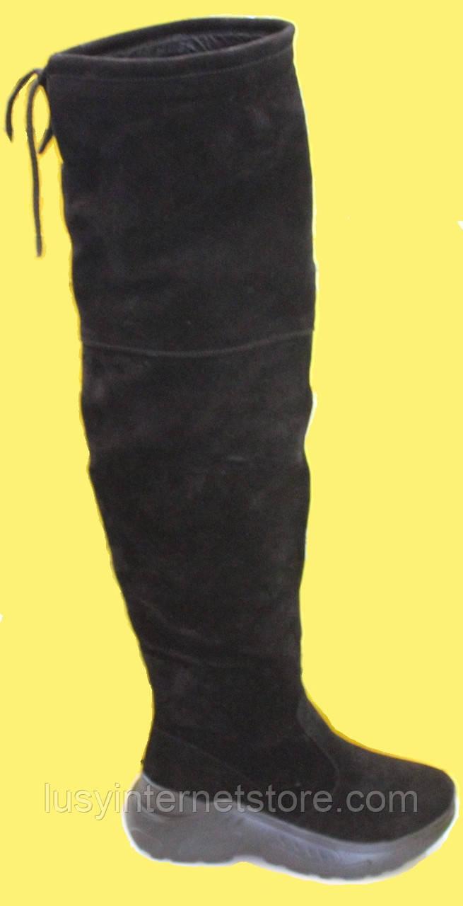 Ботфорты демисезонные женские на платформе от производителя модель КА200Д