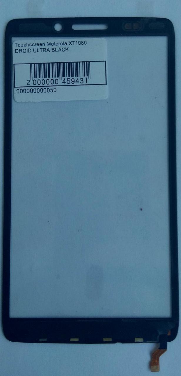 Сенсор (тачскрін) для Motorola XT1080 Droid Ultra чорний