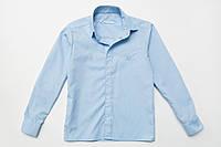 Рубашка для мальчика с длинным рукавом р.128,134,140,146,152,158,164 SmileTime на кнопках, голубая