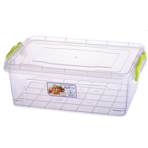Контейнер для еды Ал-пластик  ELIT №4 объём 4 л с ручками , фото 2