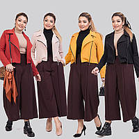 Женский стильный костюм двойка (короткий пиджак и кюлоты) /разные цвета, 42-62, ST-56936/