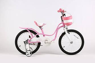 """Велосипед дитячий ARDIS LITTLE SWAN 18"""" рожевий з кошиком"""