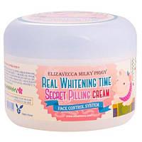 Осветляющий пилинг-крем для лица Elizavecca Milky Piggy Real Whitening Time Secret Pilling Cream 100 мл