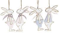 """Набор пасхальных украшений (2шт) на подвесе  """"Кролик"""" 15см, 2 вида,  набор 24 шт, фото 1"""