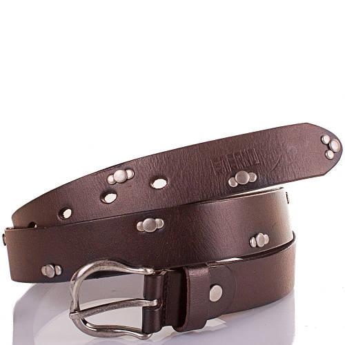Женский кожаный ремень ETERNO (ЭТЕРНО) ETS5124-10 очень темно-коричневый