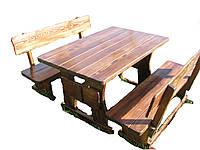 Садовая детская мебель из массива дерева 800х800 от производителя для дачи, кафе, комплект Furniture set - 20