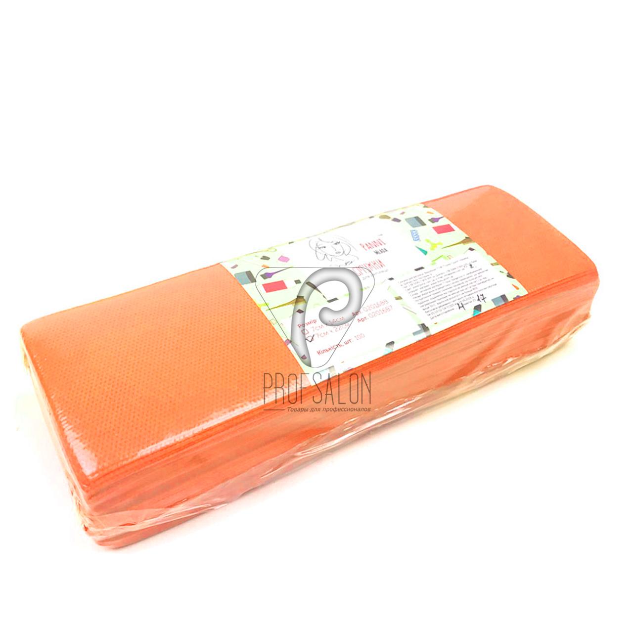 Полоски для депиляции, Panni Mlada 100 шт в упаковке, нетканые - спанбонд, оранжевые