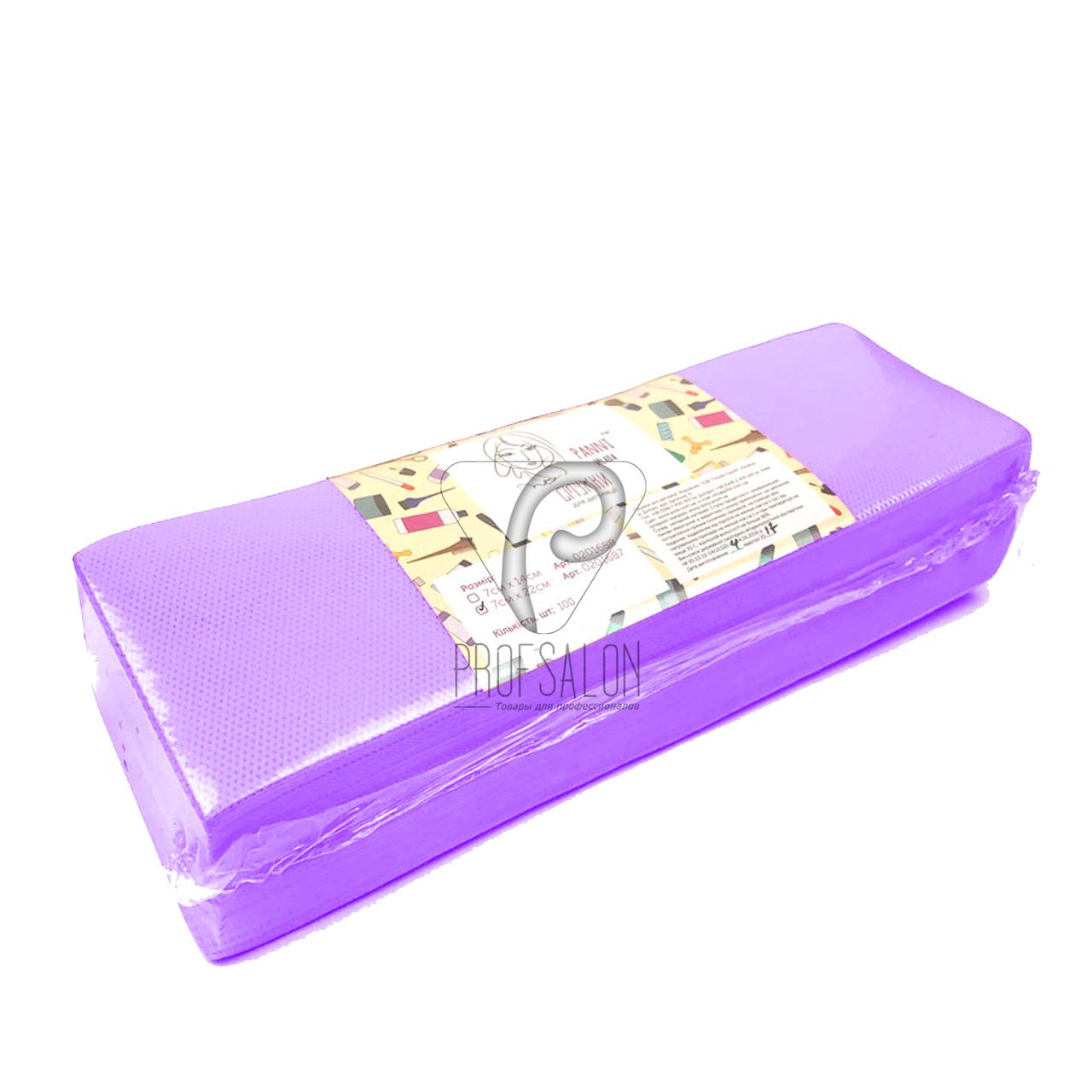 Полоски для депиляции, Panni Mlada 100 шт в упаковке, нетканые - спанбонд, фиолетовые