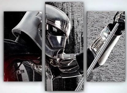 Картина модульная на холсте 90х70 Звездные войны Darth Vader